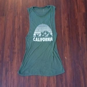 Womens tank top with decal